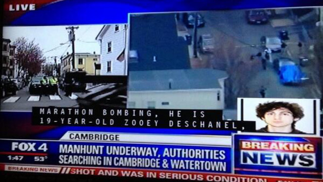 MISTAKEN IDENTITY. Boston bombing suspect wrongly identified. Photo from @peterogburn's Twitter account