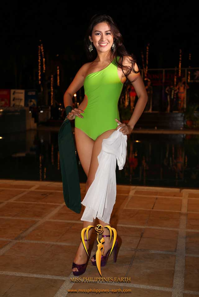 RESORTWEAR COMPETITION. Alyssa Marie Villarico at the resortwear competition on April 12 at Hotel Pontefino u0026 Residences, Batangas. Photo courtesy of Carousel Productions