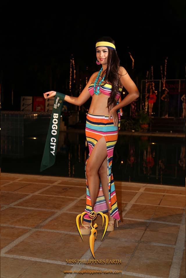 RESORTWEAR COMPETITION. Mira-Mae Dimmerling at the resortwear competition on April 12 at Hotel Pontefino u0026 Residences, Batangas. Photo courtesy of Carousel Productions