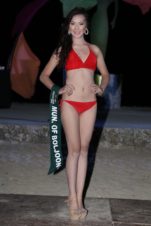 SWIMWEAR COMPETITION. Jessa Marie Jane Cariaga at the swimwear competition on April 13 at Golden Sunset Resort, Batangas. Photo courtesy of Carousel Productions