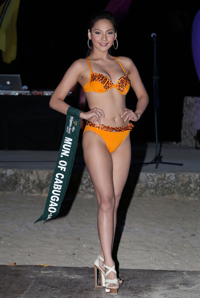 SWIMWEAR COMPETITION. Jannie Loudette Alipo-on at the swimwear competition on April 13 at Golden Sunset Resort, Batangas. Photo courtesy of Carousel Productions