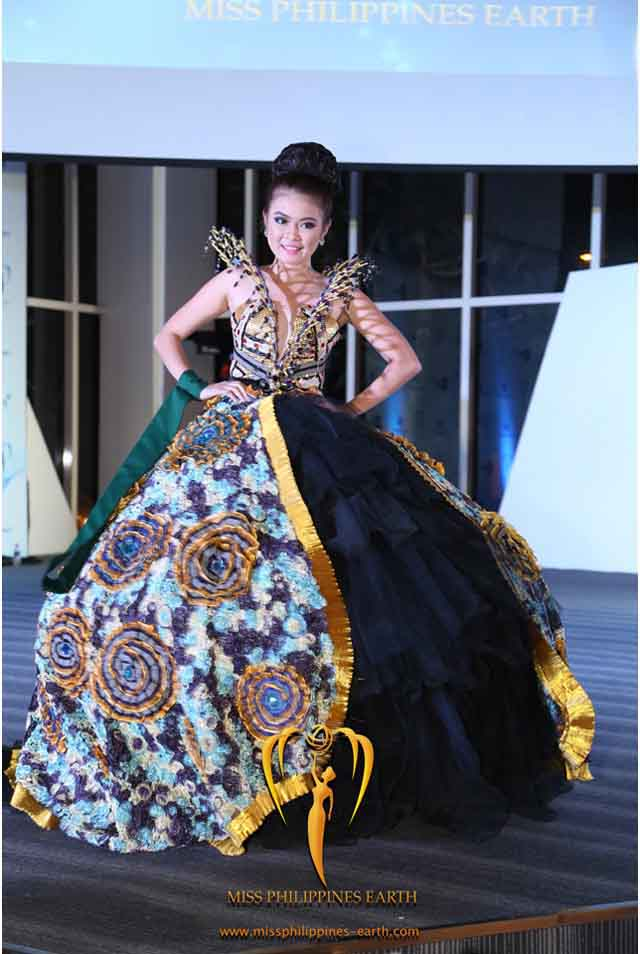 CULTURAL COSTUME COMPETITION. Kristia Kaye Nable at the cultural costume competition on April 19 at SM Mall of Asia, Pasay. Photo courtesy of Carousel Productions