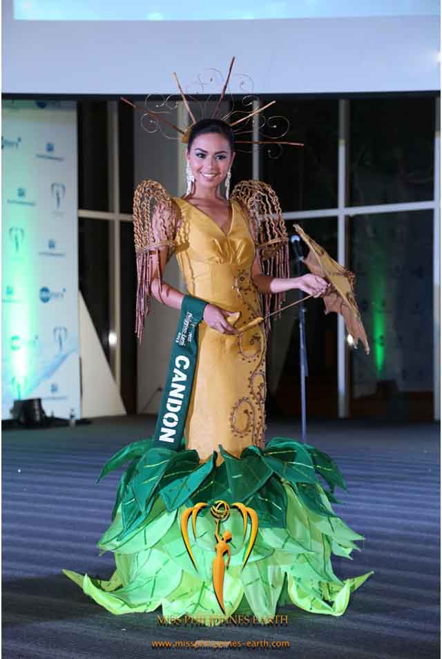 CULTURAL COSTUME COMPETITION. Dianne Tongol at the cultural costume competition on April 19 at SM Mall of Asia, Pasay. Photo courtesy of Carousel Productions