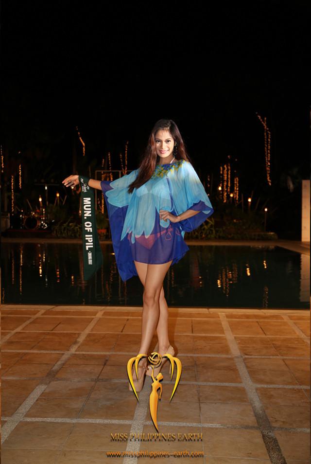 RESORTWEAR COMPETITION. Athina Karla Chia at the resortwear competition on April 12 at Hotel Pontefino u0026 Residences, Batangas. Photo courtesy of Carousel Productions