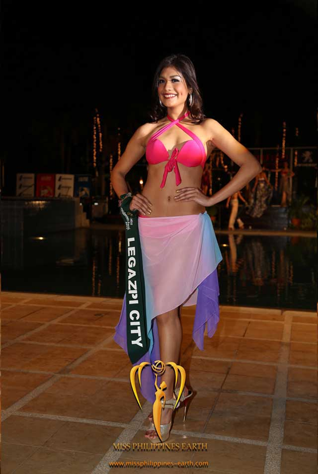 RESORTWEAR COMPETITION. Casey Ann Austria at the resortwear competition on April 12 at Hotel Pontefino u0026 Residences, Batangas. Photo courtesy of Carousel Productions