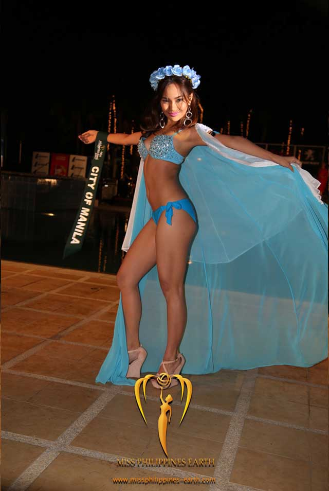RESORTWEAR COMPETITION. Alyanna Andrea Amistad at the resortwear competition on April 12 at Hotel Pontefino u0026 Residences, Batangas. Photo courtesy of Carousel Productions
