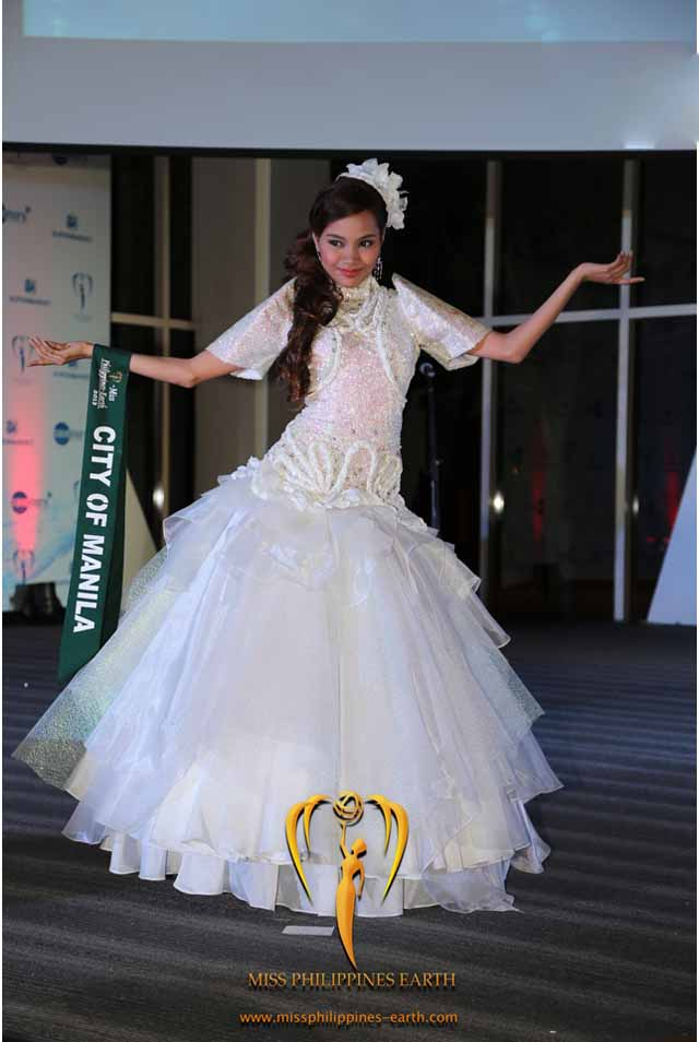CULTURAL COSTUME COMPETITION. Alyanna Andrea Amistad at the cultural costume competition on April 19 at SM Mall of Asia, Pasay. Photo courtesy of Carousel Productions