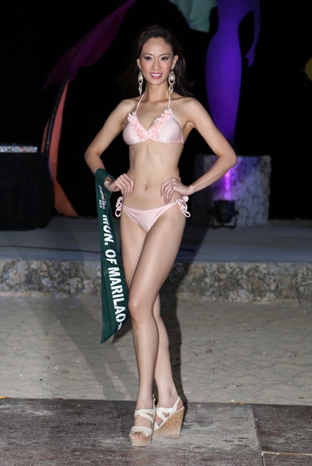 SWIMWEAR COMPETITION. Caneille Faith Santos at the swimwear competition on April 13 at Golden Sunset Resort, Batangas. Photo courtesy of Carousel Productions