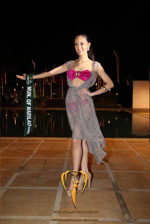 RESORTWEAR COMPETITION. Caneille Faith Santos at the resortwear competition on April 12 at Hotel Pontefino u0026 Residences, Batangas. Photo courtesy of Carousel Productions