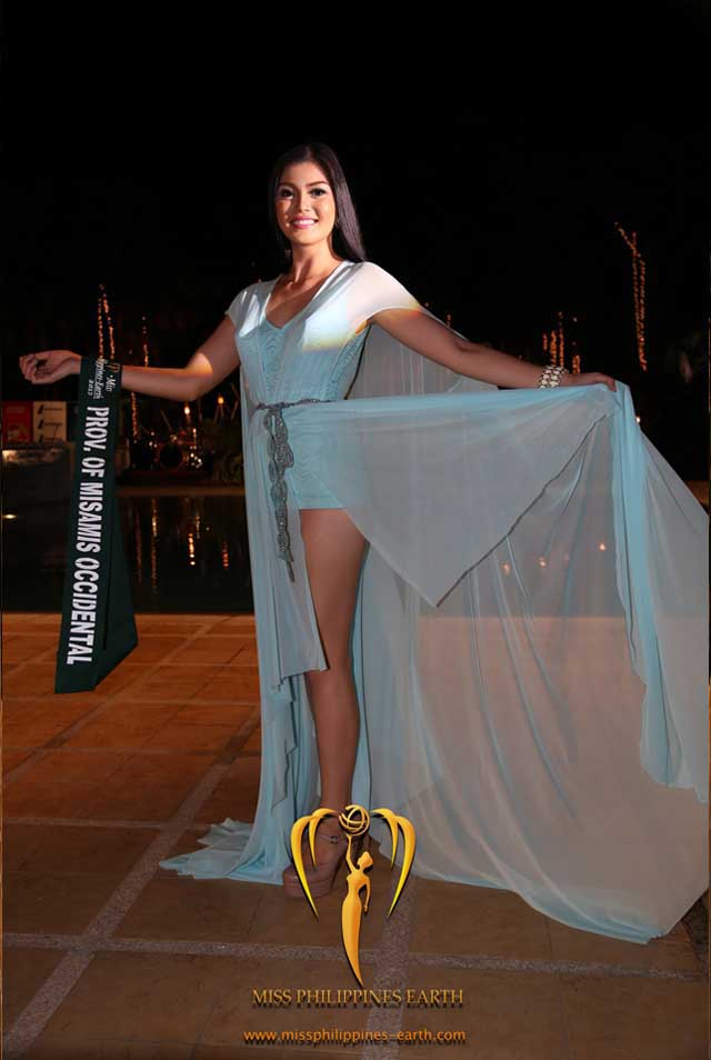 RESORTWEAR COMPETITION. Kristel Suizo at the resortwear competition on April 12 at Hotel Pontefino u0026 Residences, Batangas. Photo courtesy of Carousel Productions