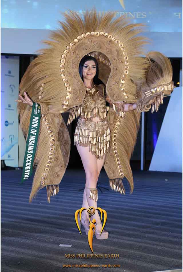 CULTURAL COSTUME COMPETITION. Kristel Suizo at the cultural costume competition on April 19 at SM Mall of Asia, Pasay. Photo courtesy of Carousel Productions
