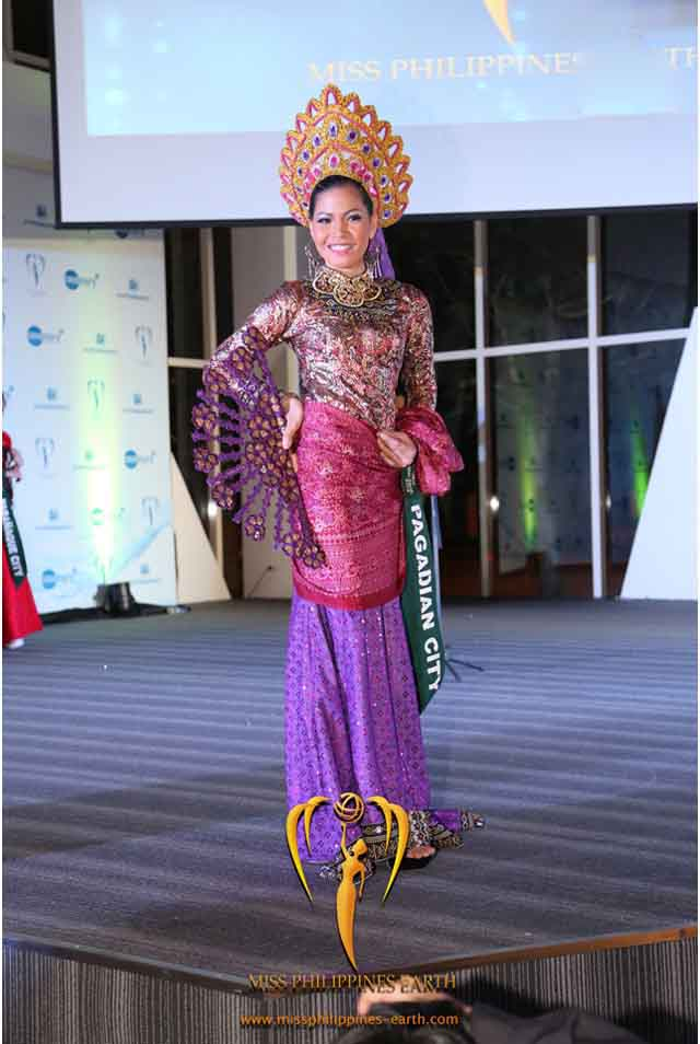 CULTURAL COSTUME COMPETITION. Mevelyn Villamor at the cultural costume competition on April 19 at SM Mall of Asia, Pasay. Photo courtesy of Carousel Productions