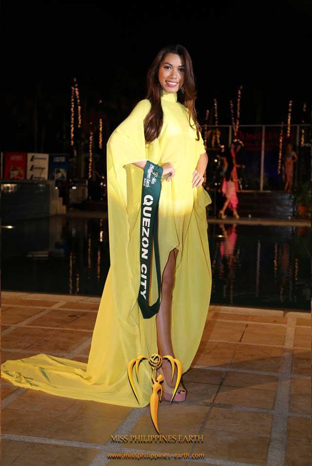 RESORTWEAR COMPETITION. Sarah Jireh Asido at the resortwear competition on April 12 at Hotel Pontefino u0026 Residences, Batangas. Photo courtesy of Carousel Productions