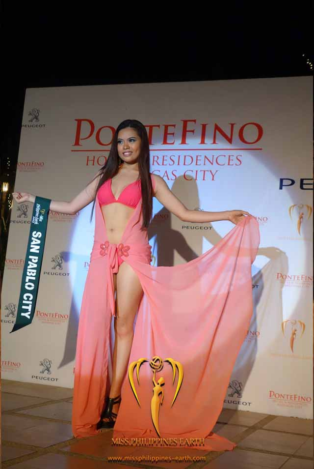 RESORTWEAR COMPETITION. Darian Bajade at the resortwear competition on April 12 at Hotel Pontefino u0026 Residences, Batangas. Photo courtesy of Carousel Productions
