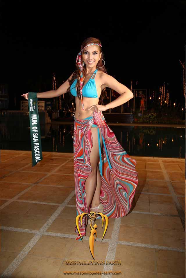 RESORTWEAR COMPETITION. Darlene May Reyes at the resortwear competition on April 12 at Hotel Pontefino u0026 Residences, Batangas. Photo courtesy of Carousel Productions