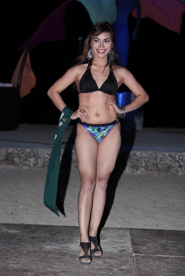 SWIMWEAR COMPETITION. Joanna Jane Janson at the swimwear competition on April 13 at Golden Sunset Resort, Batangas. Photo courtesy of Carousel Productions
