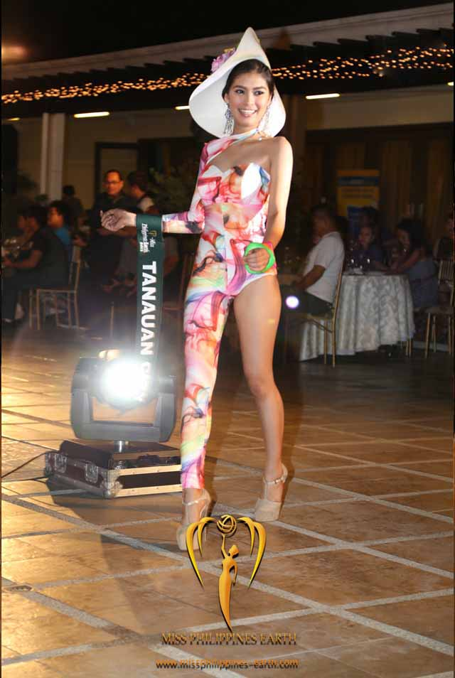 RESORTWEAR COMPETITION. Kristel Guelos at the resortwear competition on April 12 at Hotel Pontefino u0026 Residences, Batangas. Photo courtesy of Carousel Productions