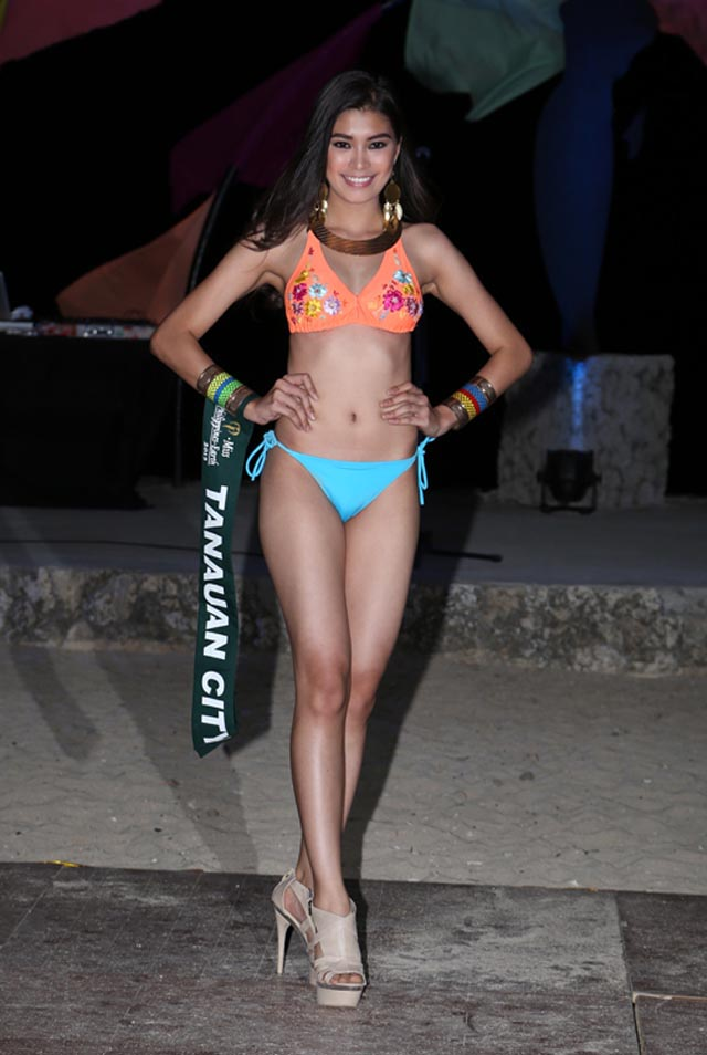 SWIMWEAR COMPETITION. Kristel Guelos at the swimwear competition on April 13 at Golden Sunset Resort, Batangas. Photo courtesy of Carousel Productions