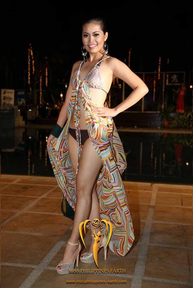 RESORTWEAR COMPETITION. Marie Bernadette Meneses at the resortwear competition on April 12 at Hotel Pontefino u0026 Residences, Batangas. Photo courtesy of Carousel Productions