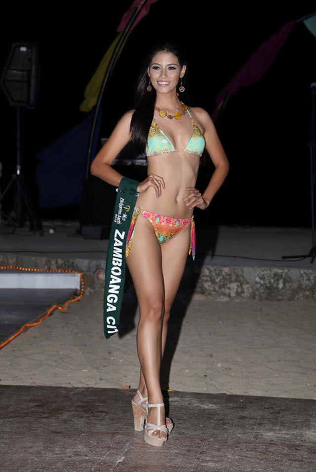 SWIMWEAR COMPETITION. Nancy Leonard at the swimwear competition on April 13 at Golden Sunset Resort, Batangas. Photo courtesy of Carousel Productions