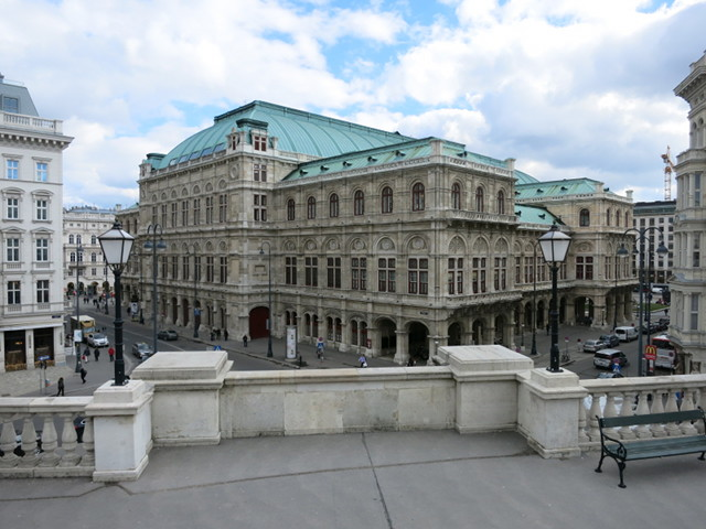 The balcony of the Albertina Museum