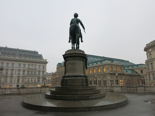 A statue of Archduke Albrecht at the Albertina Museum
