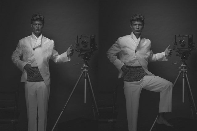 THE RIGHT EXPOSURE. Menswear by Danilo Franco. Vintage camera courtesy of Jason Quibilan.