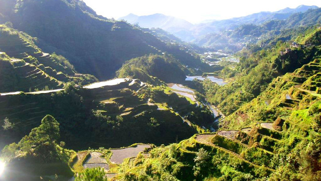 MAN-MADE WONDER. The rice terraces in Cordilleras are the product of the Ifugao peopleu2019s resourcefulness and hard work. Photo by Jherson Jaya