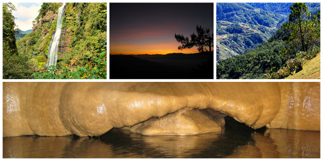 MUST-VISIT PLACES IN SAGADA. Sagada is home to different natural wonders including Bomod-Ok falls, Mt. Kiltepan, and Sumaguing cave. Photos courtesy of Gin Riobuya and Eleazar Cuela