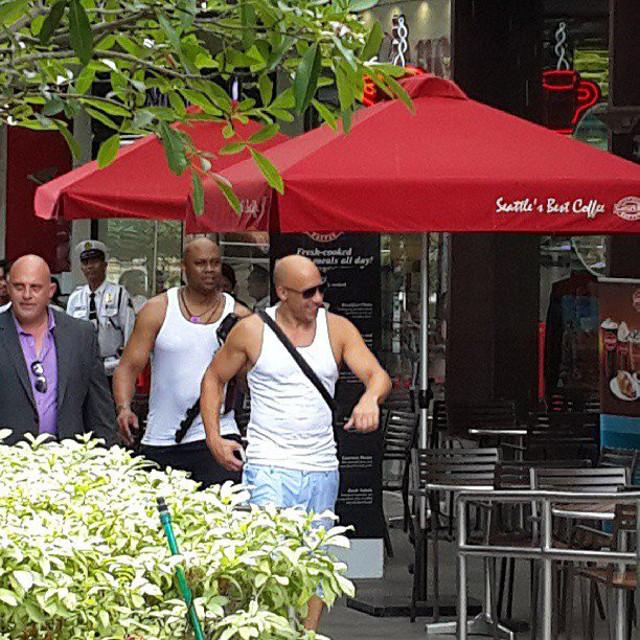 DIESEL POWER. Vin taking a stroll in Makati. Photo from Twitter user @eccentricmelai