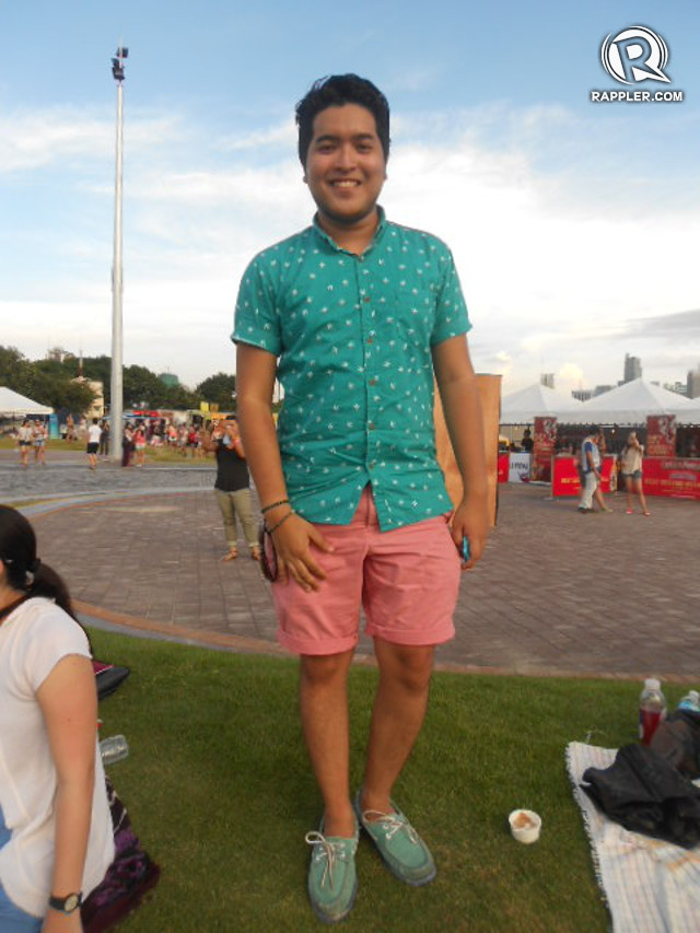 TOUGH GUYS WEAR PINK. Wanderland's male citizens like Carlo Rosales aren't afraid of wearing bright outfits either