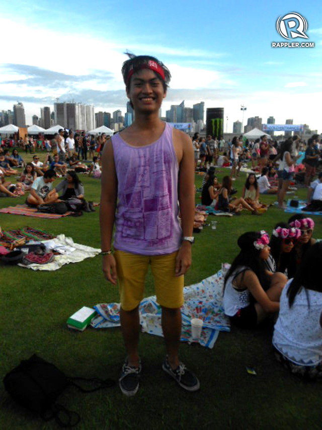 SUMMER SUN. Male Wanderlanders like Enzo stayed cool and hip in sleeveless tops and shorts