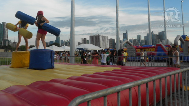 KIDS AT HEART. Citizens of Wanderland have inflatable installations as their playground