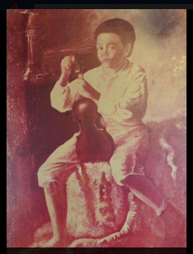 EL VIOLINISTA. Manuel Luna, like his brother Juan Luna, was also gifted with artistic talent. The first was a violinist, and the second, a painter. Photo used with permission from Discovering the Old Philippines: People, Places, Heroes, Historical Events on Facebook