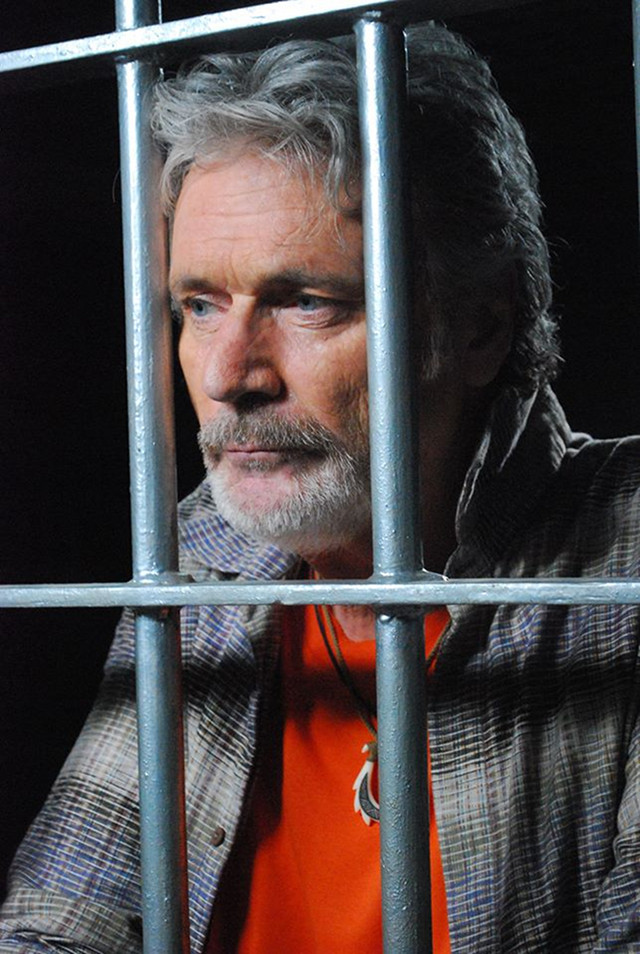FRANK PARISH. Patrick Bergin is a retired US fireman and philanthropist who finds himself wrongly accused of murder and jailed in the Philippines (IMDb)