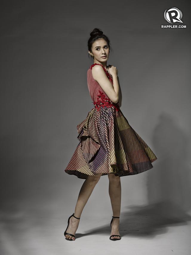 Dress, Eric Delos Santos. Heels, Zara. Earrings, Parfois.