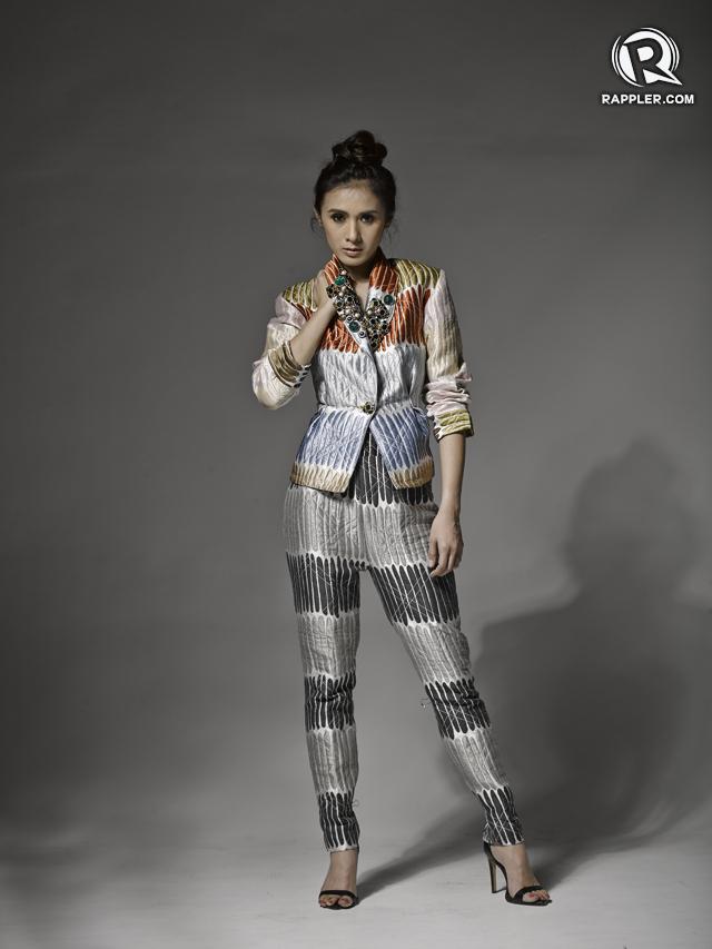 Suit, Eric Delos Santos. Heels, Zara.