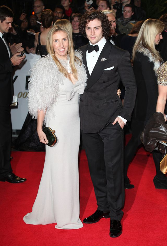 PERFECT FIT. Sam Taylor-Johnson and husband Aaron at the Royal World Premiere of 'Skyfall' in London (October 2012)