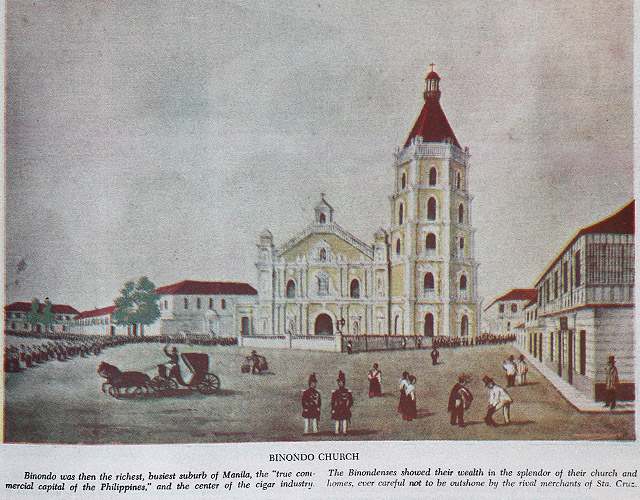 MANILAu2019S RICHEST SUBURB. Binondo was the true commercial capital of the Philippines and the center of the cigar industry. The Binondenses showed their wealth in the splendor of their church and homes, ever careful not to be outshone by the rival merchants of Sta. Cruz.