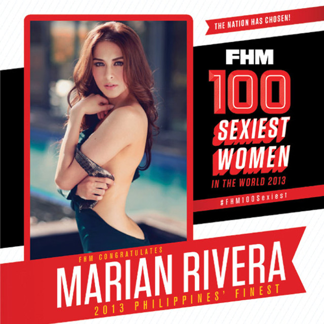 THE CHOICE. Marian Rivera reclaims the Sexiest Woman title. Photo from www.fhm.com.ph