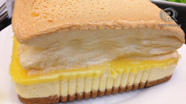FROZEN BRAZO DE MERCEDES. A creation of homebaker Fiona Tan, this dessert is a certified best-seller. Once you've tasted its sweet and salty mantecado ice cream, it would be VERY hard to forget!