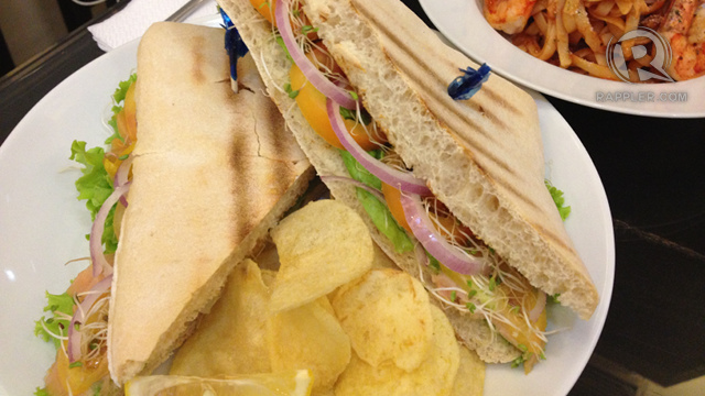 SMOKED SALMON SANDWICH WITH MANGO DILL DRESSING. Parvati's offering to sandwich lovers