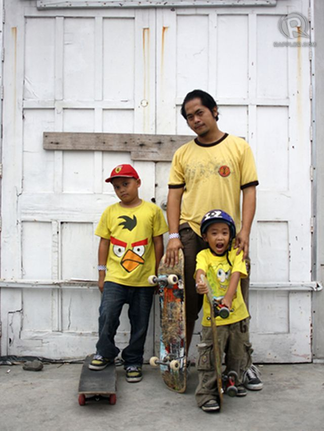 THE FAMILY THAT SKATEBOARDS TOGETHER. For Bryce, Dave and Lance Aragon, skateboarding is a family activity