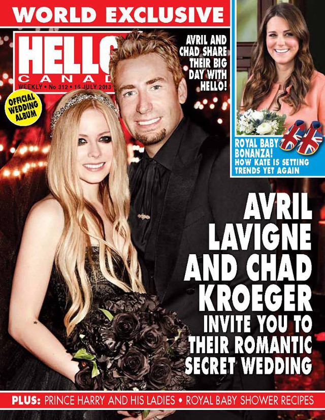 ROCKER CHIC. Lavigne dressed in Lhuillier. Photo from the Hello! Canada Magazine Facebook page