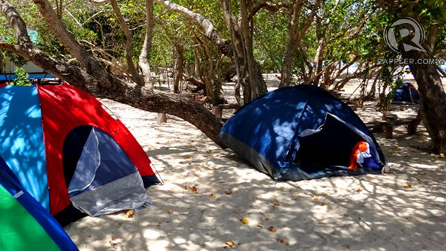 BACK TO THE BASICS. Camping or sleeping on the sand is the only way to stay overnight at Apo Island