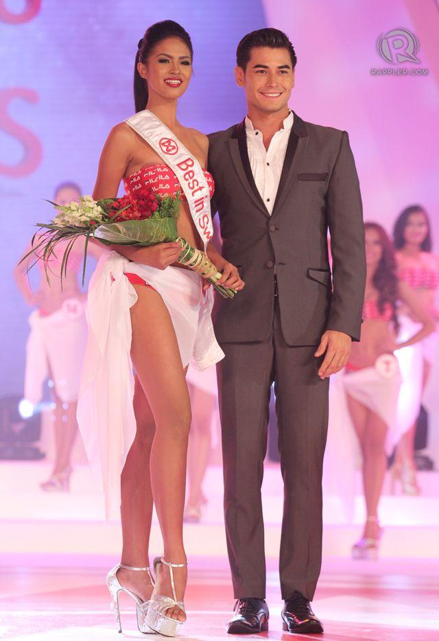 Best in Swimwear: #10, Janicel Lubina with model-actor Fabio Ide