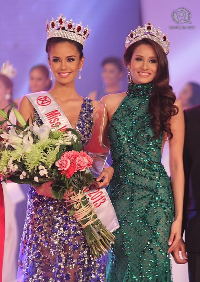 HEADED TO INDONESIA. Miss World Philippines 2013 Megan Young [left] and Miss World Philippines 2012 Queenierich Rehman. Photo by Jory Rivera/OPMB