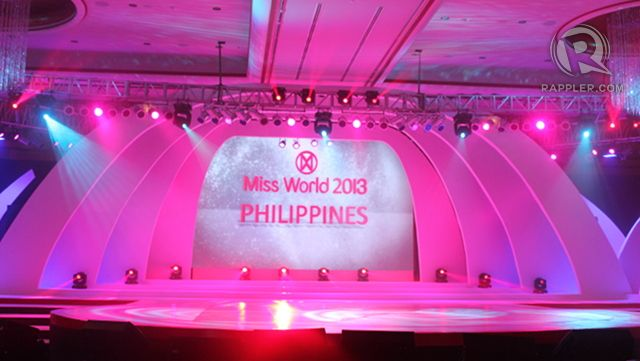 Stage that spans the width of the Grand Ballroom of Solaire Resort and Casino