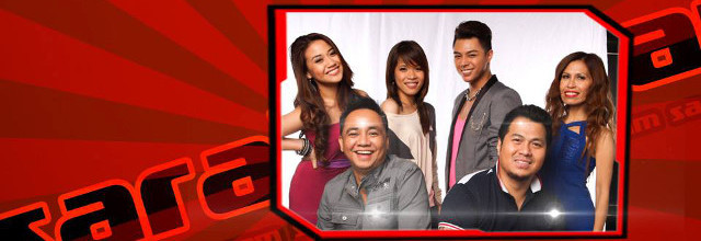 EXIT DUDE. u2018The Voice of the Philippinesu2019u2019 Junji (front, left) is the first to go home out of Team Sarahu2019s Top 6, leaving behind (clockwise from left) live-show winner Morissette, Klarisse, Yuki, live-show survivor Eva, and Maki. All photos from the showu2019s Facebook page