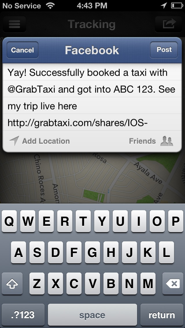 SHARE THE FEED. Let your family and friends know through social media where to track your trip